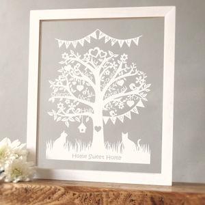 Personalised Family Tree Papercut