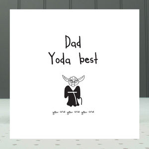 'Dad Yoda Best' Greeting Card - father's day cards