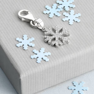Sterling Silver Snowflake Charm - christmas jewellery
