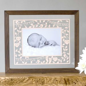 Personalised New Baby Photo Papercut - picture frames for children