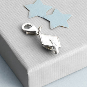 Sterling Silver Mortar Board Graduation Hat Charm
