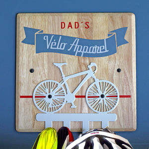 Personalised Cycling Bike Hooks - hooks, pegs & clips