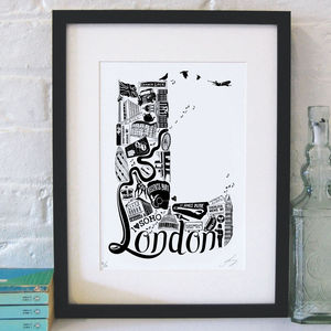 Best Of London Screenprint - treasured locations & memories