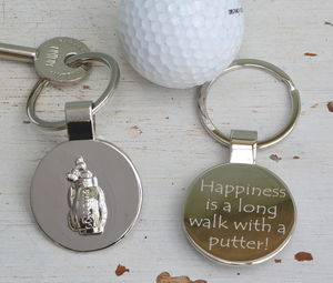 Personalised Golf Bag Keyring