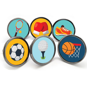 Sports Themed Handles Cupboard Door Knobs