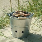 Galvanised Bucket Barbecue - summer shop