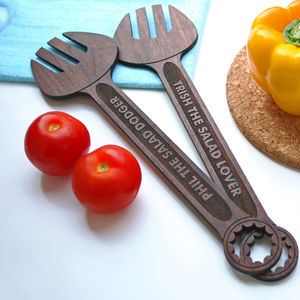 Personalised Salad Server Spanners - kitchen accessories