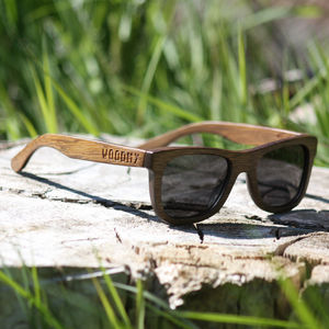 Wayfarer Style Wooden Sunglasses Small - sunglasses