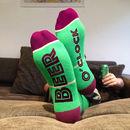 Feet Up Socks Beer O'clock