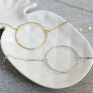 Large Karma Circle Necklace - wedding fashion