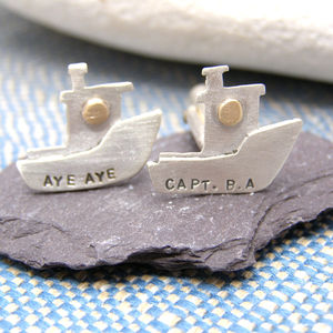 Personalised Boat Cuff Links