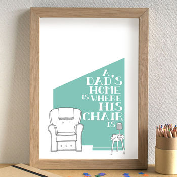 Dad's Chair Print