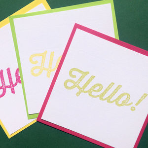 Square Hello Notecards - notelets & writing paper