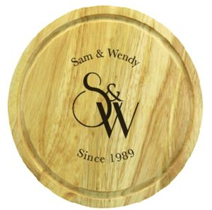 Monogrammed Round Chopping Board