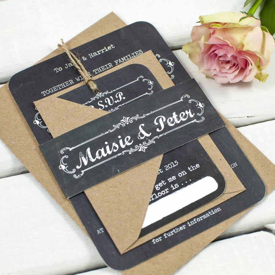 Chalkboard Wedding Invitations By Norma&dorothy