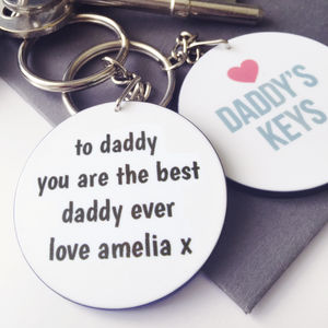 Personalised Daddy's Keys Keyring - personalised