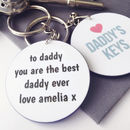 Personalised Daddy's Keys Keyring