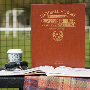 Personalised Spurs Vs Arsenal North London Derby Book - shop by personality