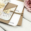 Floral Patchwork Wedding Invitation Bundle