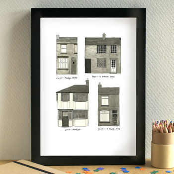 Beatles Childhood Homes Print
