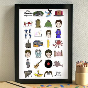 Beatles Alphabet Print - posters & prints