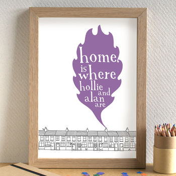 Personalised 'Home Is Where…' Print