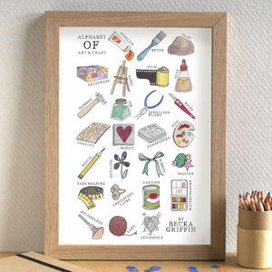 Art And Craft Alphabet Print