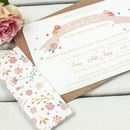 Country Floral Wedding Invitation Bundle