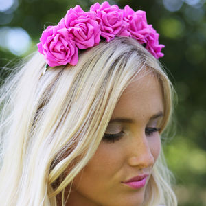 Wild Rose Flower Crown Spring Summer Colours - wedding fashion