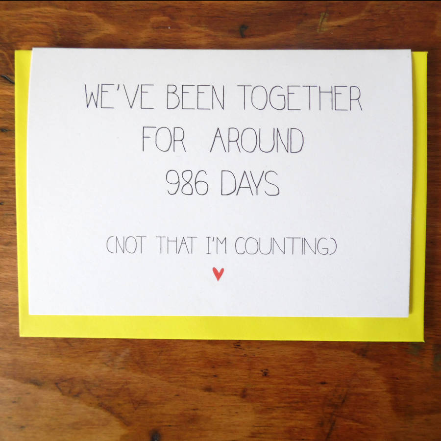 Personalised 'We've Been Together For' Anniversary Card