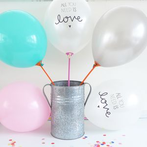 All You Need Is Love Balloons - weddings sale