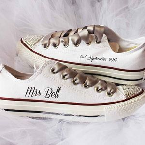 Bride Custom Wedding Converse - shoes