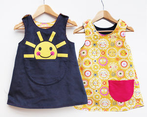 Girls Sunshine Pinafore Dress