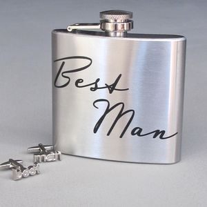 'Best Man' Boxed Hip Flask
