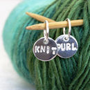 Personalised Silver Round Stitch Marker