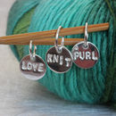Personalised set of stitch markers