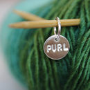 Personalised single stitch marker