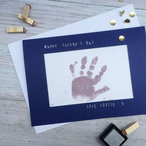 Father's Day Personalised Handprint Footprint Card