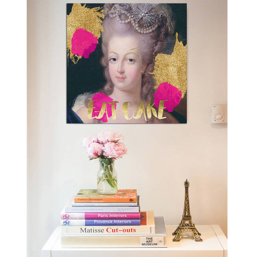 Marie Antoinette Eat Cake Print On Canvas