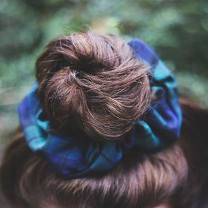 Tartan Scrunchie - hair accessories
