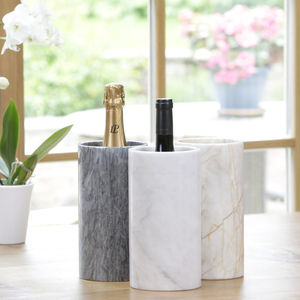 Hand Crafted Marble Wine Cooler - dining room