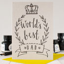 'Worlds Best Dad' Birthday Card