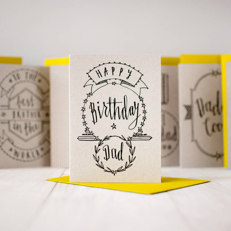 happy birthday dad' birthday card by betty etiquette, Birthday card