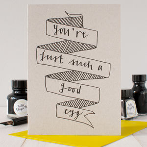 'Good Egg' Thank You Card - thank you cards