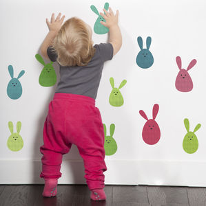 Bunny Rabbit Fabric Wall Stickers - home decorating
