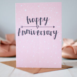 'Happy Anniversary' Wedding Anniversary Card - wedding, engagement & anniversary cards