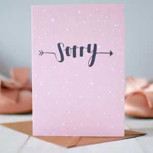 'Sorry' Sympathy Card