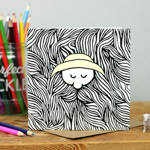 Bearded Fisherman Card