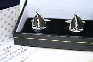 Personalised Sailing Boat Cufflinks