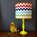Rainbow Chevron Handmade Children's Lampshade
